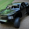 <strong class='magnific-title'>BJ Baldwin Replica RC Trophy Truck</strong> This is my 1/10th scale RWD custom built tube frame trophy truck, topped with a Pro-Line Silverado. It's a work still in progress.