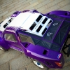 """<strong class='magnific-title'>Traxxas E-Revo SCT</strong> Hey guys!! This is my traxxas erevo. I converted it to short course truck and used slayer pro Flo-Tek body which painted candy blue(kinda looks like purple) and white in the middle. Also I'm using my faviorate tires badlands, I used to have 2.2"""" on it but I bought the 2.2""""/3.0"""" because it looks so much better."""