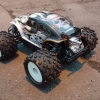 <strong class='magnific-title'>Baja Savage</strong> Hello, this is my HPI Savage Flux with Pro-Line Baja body, A arms, wheels and tires. Runing 6S Lipo and center diff. From France.