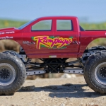 <strong class='magnific-title'>Rampage</strong> Axial Deadbolt based monster truck with Pro-Line Brawler rims, Destroyer tires and a Ram 1500 body.