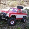 <strong class='magnific-title'>Custom 1.9 Scaler</strong> Custom Steel C channel frame, parallel 4 link panhard bars front and rear, Pro-Line 1.9 Flat Irons on Axial Bead-locs, hand made scale accessories