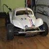 """<strong class='magnific-title'>Traxxas Slash 4x4</strong> Here´s my Slash """"Herbie-Style"""" with the PL Baja Bug Body,  PL Bow-Tie Tires on PL Split Six BeadLoc Wheels and 4 PowerStroke-Shocks. Much more fun to drive than the stock-Slash, thanks Pro-Line!"""