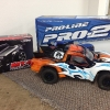 <strong class='magnific-title'>Pro Line Pro 2</strong> This is my recently purchased and built pro line pro 2 sct with custom painted body and the NEW Pro Spec shocks, trinity d3.5. 17.5 Maxzilla hand built motor, mylaps timer, airtronics receiver, savox servo and Tekin RS Pro GEN 2.