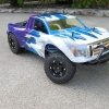<strong class='magnific-title'>Team Associated SC10</strong> It's a stock Team Associated SC10 that's been topped off by a Pro-Line Ford F-150 body I custom painted myself.  The headlights and grille and all the rear panel trim was painted.  No stickers were added.
