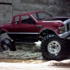 <strong class='magnific-title'>axial scx 10</strong> this is my scx10 running Pro-Line's F250 body and crawler wheels - Brian Touchton