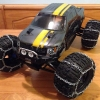 <strong class='magnific-title'>Ford Tough</strong> Pro-Line F150 sitting on Pro-Line Trenchers with my homemade snow chains were the talk of my neighborhood.