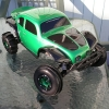 <strong class='magnific-title'>Traxxas Baja Slash</strong> This is a Traxxas Slash with a Pro-Line Baja body painted by me, Split six wheels all around with Sling Shot paddles on the back and Mohawk front tires.