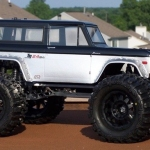 <strong class='magnific-title'>&#039;73 Ford Bronco</strong> This my second Ford 73 Bronco entry for Reader's Ride. The Pro-Line Body is mounted on an aluminum E-MAXX chassis. Wheels are F-11 1/2 offset with Trencher X tires . Body is mounted using Pro-Line extended body mount.