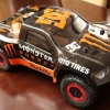 <strong class='magnific-title'>Baja Monster Trophy Truck</strong> : Body is an Evo SC and painted by macklisracing. ProTrac F-11 Wheels with Badlands SC tires and Pro-Line Body Mount Secure-Loc Cap. Car is a TLR 22SCT-RTC