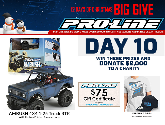 a2bd9d934d Win this Pro-Line  Ambush 4×4 with CUSTOM PAINTED BODY and Give  2