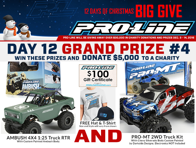 8b80284d22 PRO-LINE S 12 DAYS OF CHRISTMAS BIG GIVE  DAY 12 – Grand Prize  4 ...