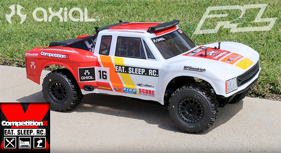 Competitionx eateeprc giveaway winner featuring pro line super axial racing yeti trophy truck featuring pro line racing trencher x sc tires and 6 curved super bright led light bar kit aloadofball Image collections
